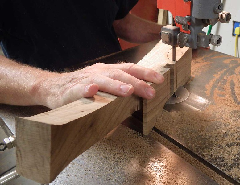 Bandsawing the Back Legs