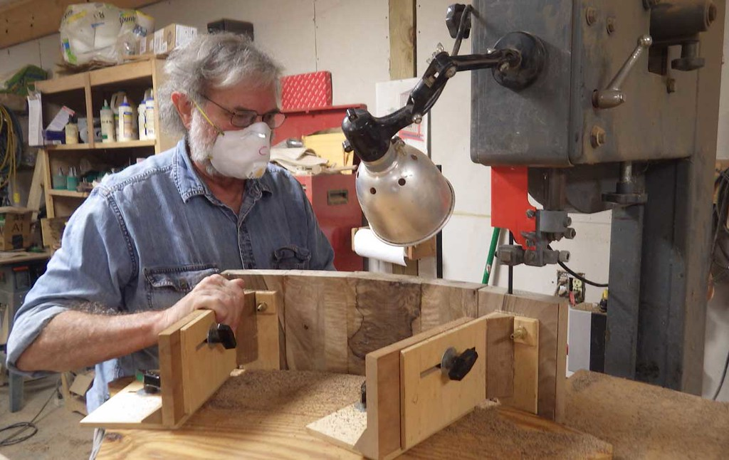 Bandsawing the Head Rest