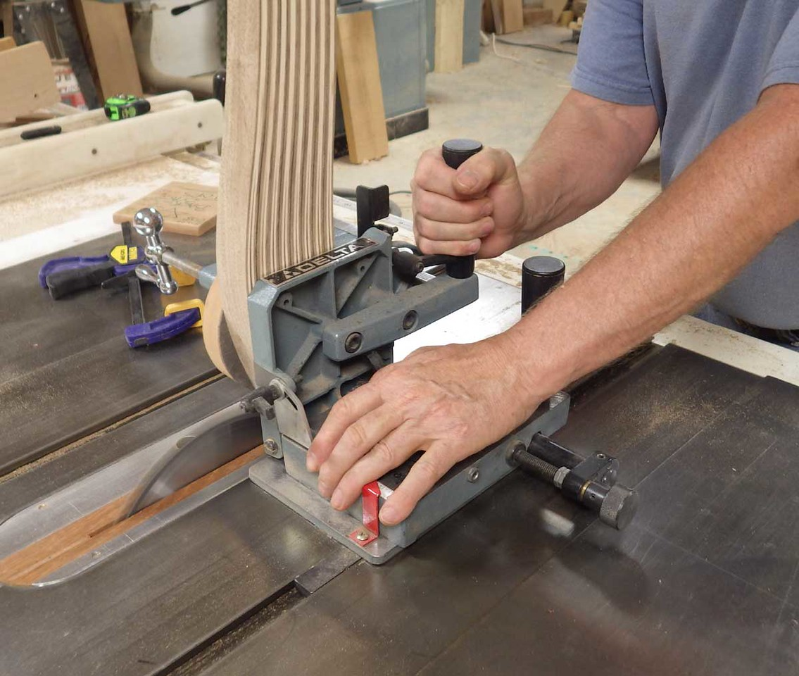 Cutting Tenons on the Back Braces