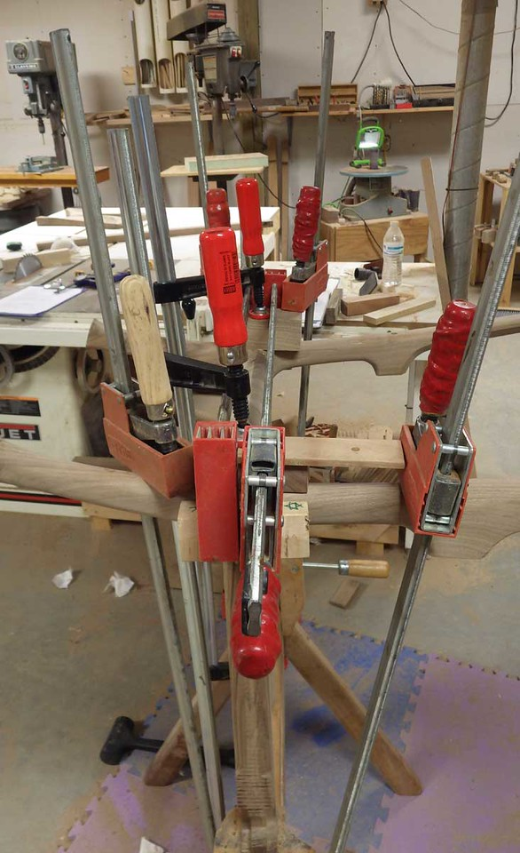 Gluing the Back Legs to the Seat