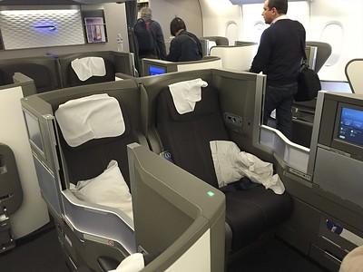 Business class seats.