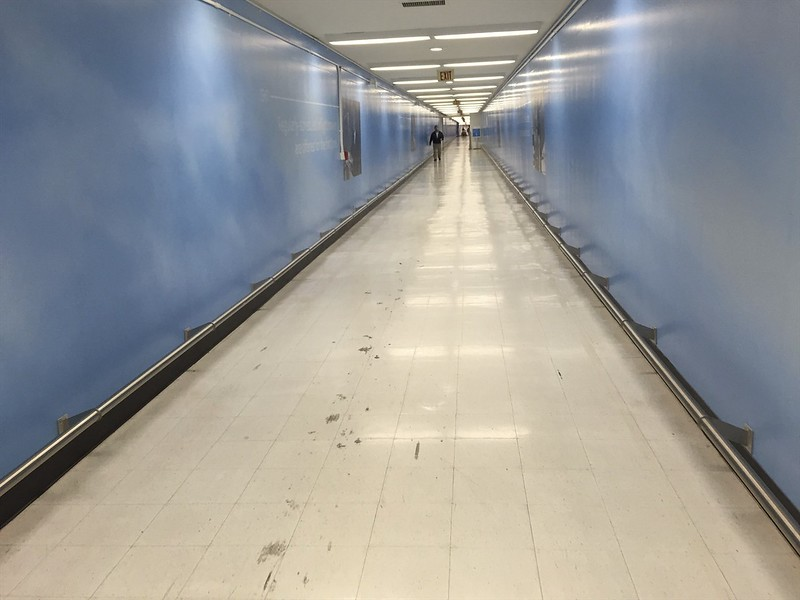 The two-week trip begins at the end of this secret tunnel at LAX.