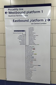 After a while we were pros with the London Underground.