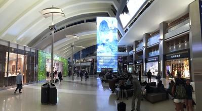 The Tom Bradley International terminal at LAX is brand new.