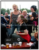 Roskilde Festival 2004, Festival goers, dancing in the mud, drinking beer
