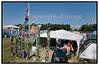 Roskilde Festival 2005, Festival goers, dancing, drinking beer, Beer Cans