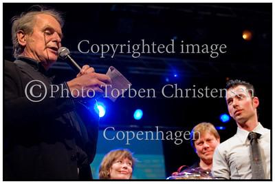 Laust Sonne med prisen, Ken Gudman mindekoncert 2007