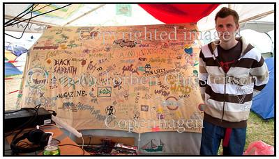 Old festival tent Det gamle telt Roskilde Festival 2010