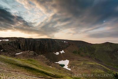 Lava Cliffs Over Iceberg Lake