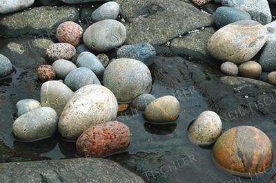 #400  Seashore stones at Acadia National Park, Maine.