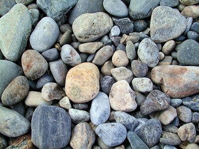 #128  Seashore stones at Reid State Park, Maine