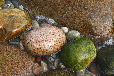 #891  Seashore stones at Acadia National Park, Maine.