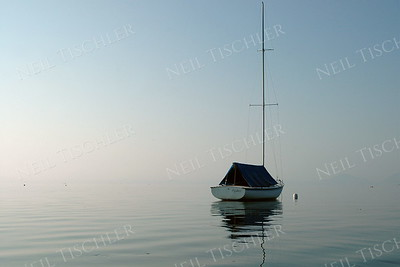 #832  Moored sailboat