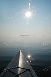 #830  A hazy morning ocean paddle