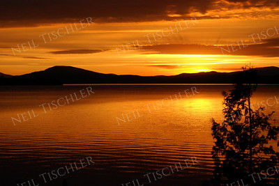 #764  A fabulous sunset over Rangeley Lake in Rangeley, Maine, world-famous for its brook trout and land-locked salmon fishing.