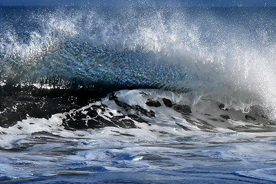 #1590  Breaking  wave  on a windy day at Plum Island, Newburyport, MA   January 1, 2020