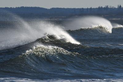#1586  Windswept waves  on a windy day at Plum Island, Newburyport, MA   January 1, 2020
