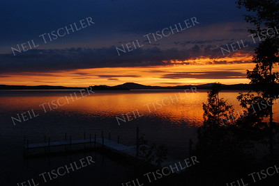 #757  A fabulous sunset over Rangeley Lake in Rangeley, Maine, world-famous for its brook trout and land-locked salmon fishing.