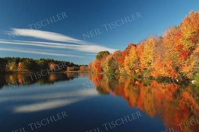 #515  Ice House Pond in Acton, Massachusetts, in autumn