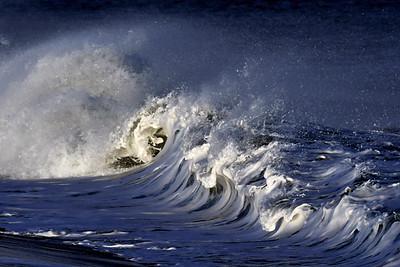#1639  Windblown breaking wave  at Plum Island, Newburyport, MA  on January 1, 2020