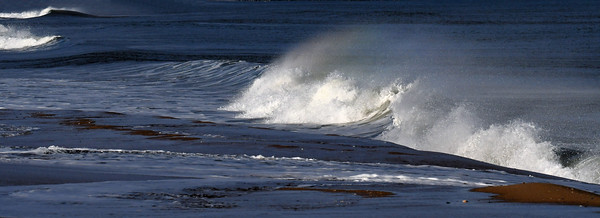 #1589  Windswept waves  on a windy day at Plum Island, Newburyport, MA   January 1, 2020