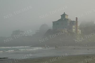 #382  Good Harbor Beach in fog; Gloucester, Massachusetts