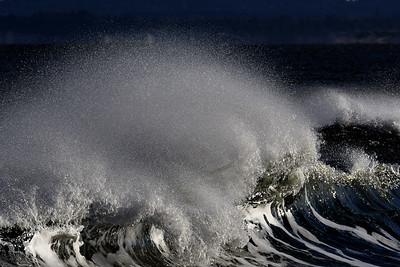 #1638  Windblown breaking wave  at Plum Island, Newburyport, MA  on January 1, 2020