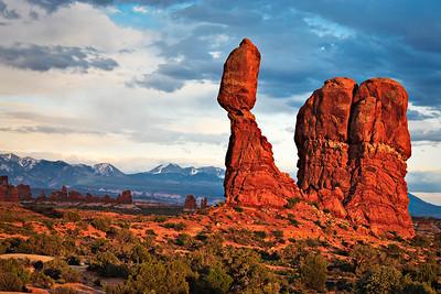 Balanced Rock - sunset light