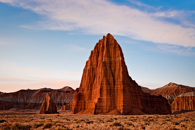 Twilight  - Temple of the Sun Lower Cathedral Valley