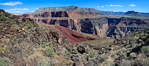 Lava Falls trail - 2 image stitch River mile 179