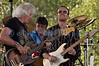 The Winthrop Blues ranch hosted the 40th Anniversary of Woodstock aka Heroes of Woodstock in August, 2009. Leo Lyons, bass player for Ten Years After never quit smiling. He shares the stage with drummer Rick Lee and lead guitar player and vocalist Joe Gooch.