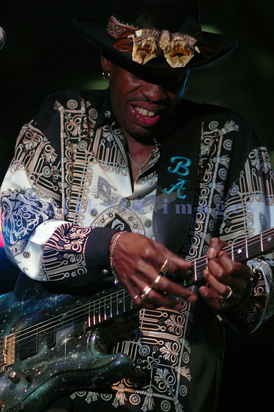 Bernard Allison, son of famed bluesman Luther Allison, is an awesome performer in his own right. The Saturday night headliner at the Mt Baker Blues festival was a crowd pleaser.