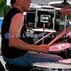 Vito Liuzzi, passionate drummer for the Johnny Winter Band, at the 2009 Baker Blues Festival.