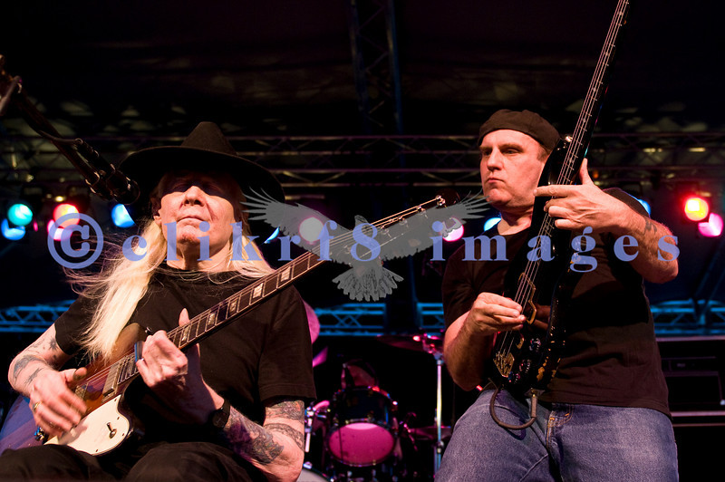 Johnny Winter at the Mt Baker Blues Festival. A master of the slide guitar and the Texas blues, he played to the largest audience that I have seen at the festival. His bass player, Scott Spray, an accomplished musician/songwriter, was at his side.