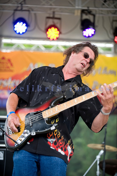 The Fat Tones from the Spokane/Boise area are the house band at the Mt. baker Blues Festival. Bob Ehrgott on bass.