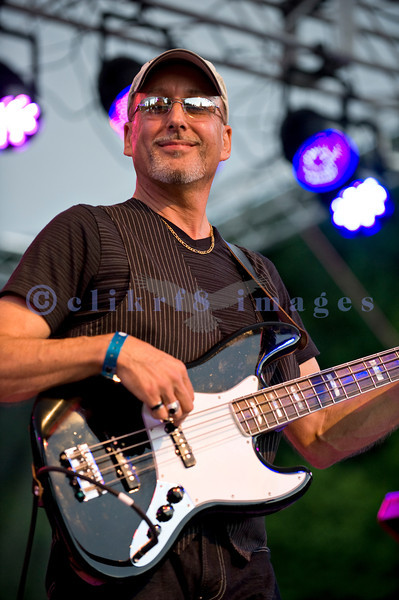 The Chris Eger Band from Skagit County perform at the 16th annual Mt. Baker Rhythm and Blues Festival on Friday, July 29, 2011. Randy Eger, bass guitar and backing vocals