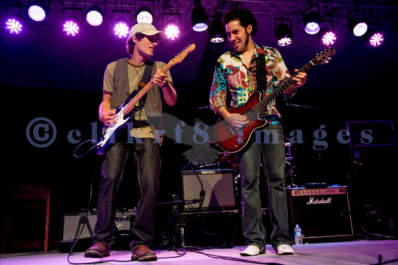 Hamilton Loomis, Friday night headliner, shares the stage with Chris Eger of the Chris Eger Band at the Mt. Baker Rhythm and Blues Festival July 29, 2011. Hamilton Loomis, electric guitar and vocals; Chris Eger, electric guitar