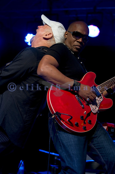 """The Average White Band, whose hits include """"Pick Up The Pieces"""", headlined Saturday night, July 30, 2011 at the Mt. Baker Rhythm and Blues Festival. Onnie McIntyre, guitar; Klyde Jones, rhythm guitar and vocals"""