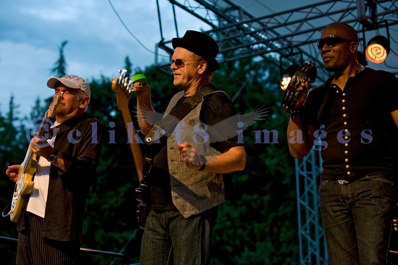 """The Average White Band, whose hits include """"Pick Up The Pieces"""", headlined Saturday night, July 30, 2011 at the Mt. Baker Rhythm and Blues Festival. Onnie McIntyre, guitar; Alan Gorrie, bass; Klyde Jones, vocals"""