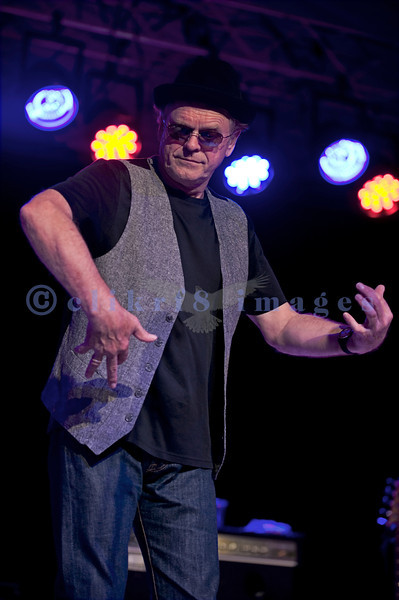 """The Average White Band, whose hits include """"Pick Up The Pieces"""", headlined Saturday night, July 30, 2011 at the Mt. Baker Rhythm and Blues Festival. Onnie McIntyre, guitar; Alan Gorrie, air guitar"""