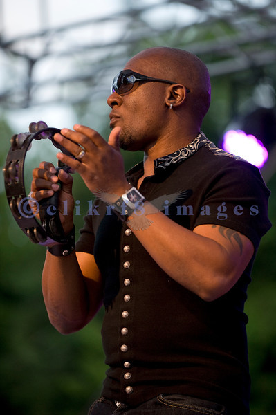 """The Average White Band, whose hits include """"Pick Up The Pieces"""", headlined Saturday night, July 30, 2011 at the Mt. Baker Rhythm and Blues Festival. Klyde Jones, vocals, tambourine"""