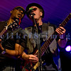 """The Average White Band, whose hits include """"Pick Up The Pieces"""", headlined Saturday night, July 30, 2011 at the Mt. Baker Rhythm and Blues Festival. Klyde Jones, rhythm guitar and vocals; Alan Gorrie, bass guitar"""