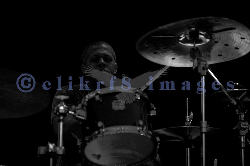 """The Average White Band, whose hits include """"Pick Up The Pieces"""", headlined Saturday night, July 30, 2011 at the Mt. Baker Rhythm and Blues Festival. Rocky Bryant, drummer"""