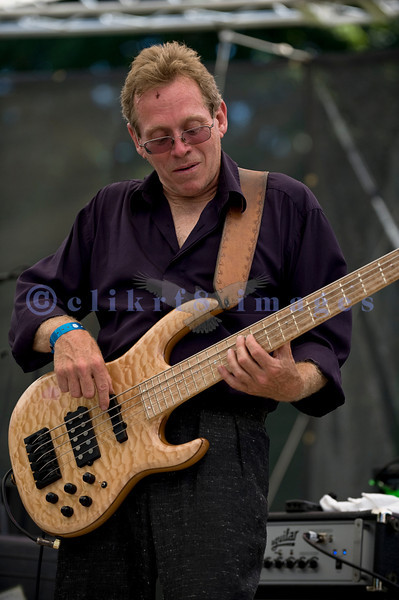 C D Woodbury Band awarded the 2010 Washington Blues Society Best New Band Award, played Saturday afternoon, July 30, 2011 at the 16th annual Mt. Baker Rhythm and Blues Festival  at the Deming Log Show grounds near Deming, Washington. Mike Fish, bass guitar