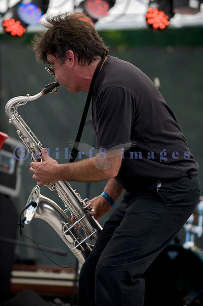 C D Woodbury Band awarded the 2010 Washington Blues Society Best New Band Award, played Saturday afternoon, July 30, 2011 at the 16th annual Mt. Baker Rhythm and Blues Festival  at the Deming Log Show grounds near Deming, Washington. Mike Marineg, saxophone