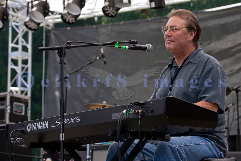 Comprised of veteran blues musicians, the James King And The Southsiders band impressed the crowd with their brand of Texas roadhouse blues on Saturday, July 30, 2011. Arlin Harmon, keyboards and vocals