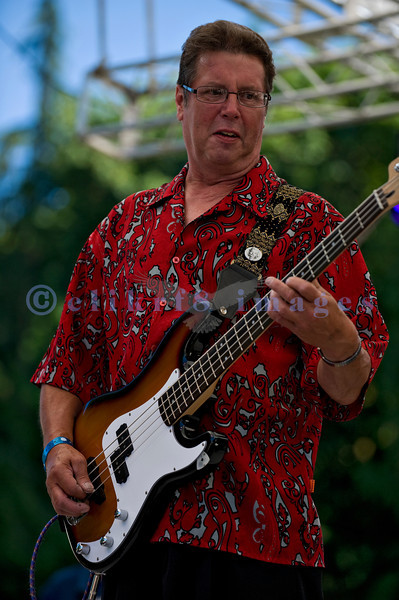 The Fat Tones from Spokane, Washington perform at the Mt. Baker Rhythm and Blues Festival on Saturday, July 30, 2011. Bob Ehrgott, bass guitar and vocals