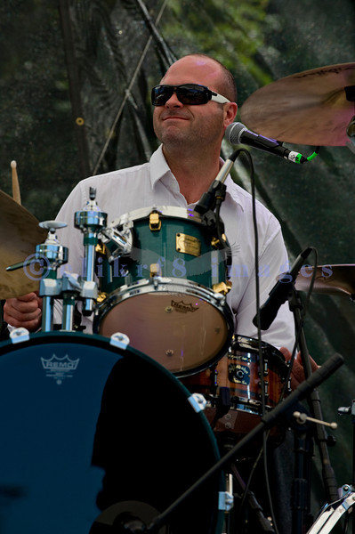 The Fat Tones from Spokane, Washington perform at the Mt. Baker Rhythm and Blues Festival on Saturday, July 30, 2011. Zach Cooper, drums and vocals