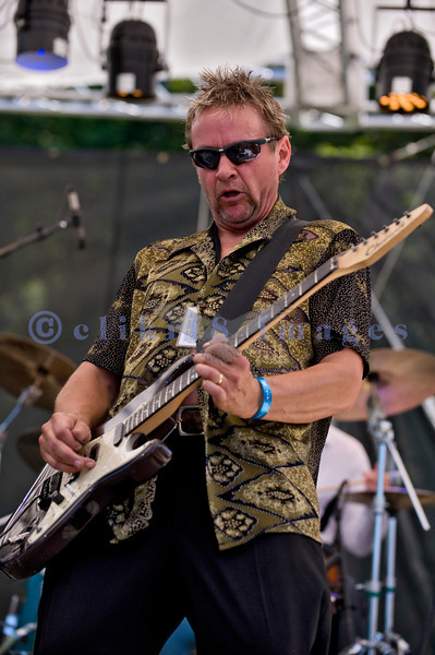 The Fat Tones from Spokane, Washington perform at the Mt. Baker Rhythm and Blues Festival on Saturday, July 30, 2011. Bobby Patterson, electric guitar and vocals