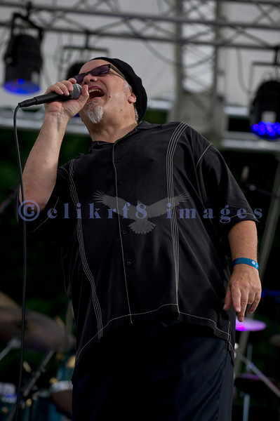 The Curtis Salgado Band, whose namesake survived cancer, performed with a full ensemble at the Mt. Baker Rhythm and Blues Festival in Deming, Washington. Curtis Salgado: vocals & harmonica